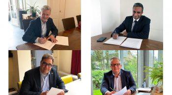 Gemeente Zoetermeer, De Haagse Hogeschool, CIV Smart Technology en mboRijnland ondertekenen intentieovereenkomst nauwere samenwerking hybride onderwijs